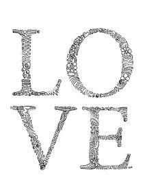 love zentangle letters
