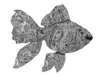 fish zentangle