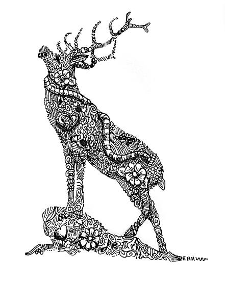 Deer standing 10x8