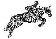 Horse Rider Jumping original artwork