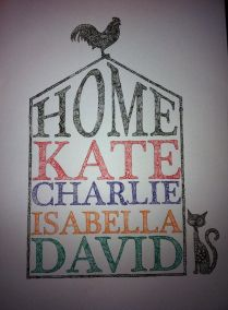 Personalised commission zentangle