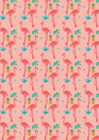 flamingo pattern texture-01