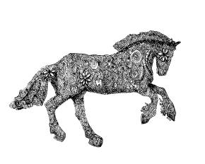 Galloping Gypsy Horse